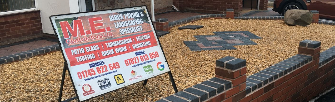 Block paving and fences.