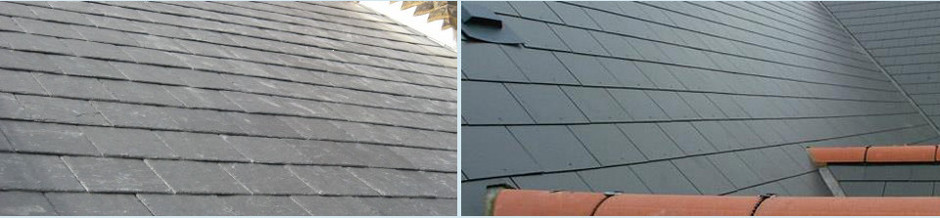 Natural Welsh slate.