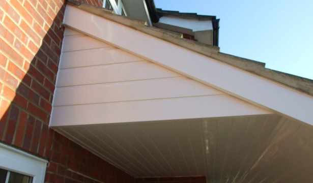 Soffit and cladding in PVCu.